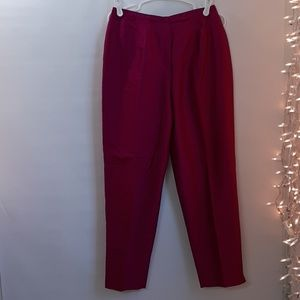 NEW! W30xL29 Pink Rasberry 100% Silk Lined Pants